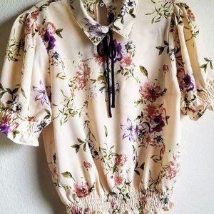 Moa Moa Juniors Retro Floral Print Shirt